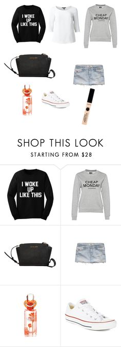 """School"" by flisangustavsson ❤ liked on Polyvore featuring Cheap Monday, Väska, Hollister Co., Juicy Couture, Converse, Summer, skirt, converse and cheapmonday"