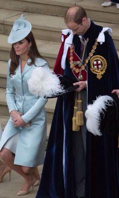 Catherine, Duchess of Cambridge and Prince William, Duke of Cambridge, Order of the Garter, 2014