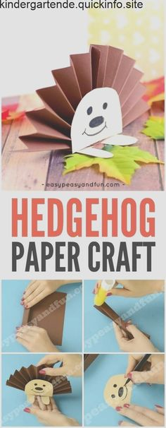 Cute Paper Rosette Hedgehog Craft for Kids basteln mit kindern igel Paper Rosette Hedgehog - Easy Peasy and Fun Fall Crafts For Kids, Toddler Crafts, Diy For Kids, Kids Crafts, Easy Crafts, Fall Crafts For Preschoolers, Autumn Art Ideas For Kids, Fall Paper Crafts, Craft Kids