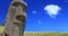 One of the many Moai that never left the quarry at Rano Raraku, Easter Island, where they were carved out of volcanic rock. One of the most spectacular things mankind has ever done. Easter Island Moai, Easter Island Statues, Volcanic Rock, Archaeological Site, Chile, South America, Family Travel, Free Images, Mount Rushmore