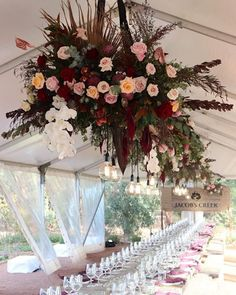 Loving this floral installation by Wedding Vault vendor The Queens Quarters. It's certainly the statement piece in the marquee. Elegant Wedding, Floral Wedding, Perfect Wedding, Fall Wedding, Rustic Wedding, Wedding Flowers, Wedding Fun, Wedding Advice, Wedding Ideas