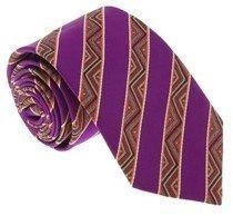 Missoni U5128 Purple/gold Awning 100% Silk Tie.