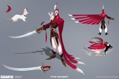 Tyto the Swift / Cosmetic Skin Concept art for... - Gorrem Art