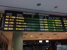 Abflugtafel Thessaloniki  - Check more at http://www.miles-around.de/trip-reports/economy-class/aegean-airlines-airbus-a320-200-economy-class-rhodos-nach-thessaloniki/,  #A320-200 #Aegean #AegeanAirlines #Airbus #Airport #avgeek #Aviation #EconomyClass #Essen #Flughafen #RHO #Rhodos #SKG #Thessaloniki #Trip-Report