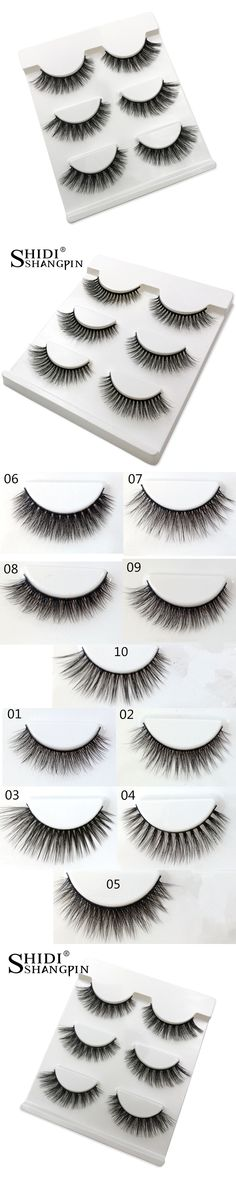 3 Pairs Super Soft Lashes 100% Real Siberian Mink Eyelashes 3d Mink Lashes Makeup Fake Lashes Brand False Eyelashes