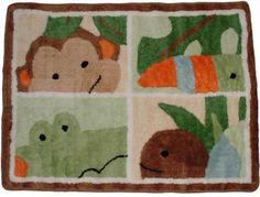 Lambs & Ivy Papagayo Rug, Green $32.00