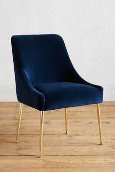 velvet elowen chair - Blue Velvet Chair