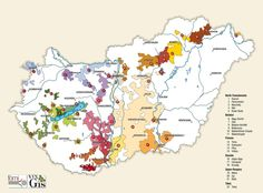A map with all the wine regions of Hungary. @WinesofHungary #wine #Hungary