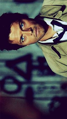 Misha Collins as Castiel. <3 Only the best character ever (well, in Supernatural... weeeeell, tied to Mark Sheppard's Crowley.)