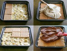 Fantastický banánový nepečený dezert z maslových sušienok, po ktorom sa len tak zapráši