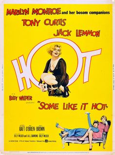 Some Like It Hot poster, 1959.