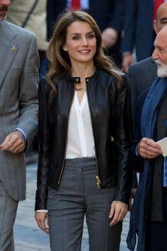 Crown Princess Letizia of Spain visits the village of Teverga on 26.10.13 in Asturias, Spain.
