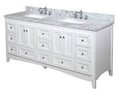 Image result for abbey double vanity white