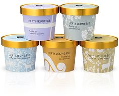 Ice cream packaging examples for your inspiration. Have a look to this awesome design packaging gallery and have a fresh inspiration! Yogurt Packaging, Dairy Packaging, Ice Cream Packaging, Cool Packaging, Packaging Design, Creme, Ice Cream Tubs, Ice Cream Brands, Frozen Yoghurt