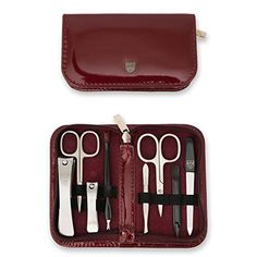 3 Swords Germany - brand quality 8 piece manicure pedicure grooming kit set for professional finger & toe nail care scissors clipper fashion leather case in gift box, Made in Solingen Germany Pedicure Set, Manicure And Pedicure, Nail Art Set, Christmas Makeup, Nail Tools, Men's Grooming, Toe Nails, Nail Care, Leather Case
