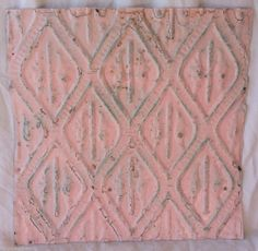 """12"""" Antique Tin Ceiling Tiles *SEE OUR SALVAGE VIDEOS* Ballerina Pink"""