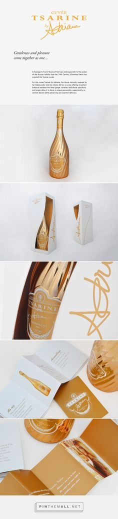 Art direction, branding, packaging. Gorgeous Cuvée Tsarine packaging by Adriana on Behance by Robin Gillet Paris, France curated by Packaging Diva PD. In homage to Tsarist Russia of the Tsars and especially to the women of the Russian nobility.