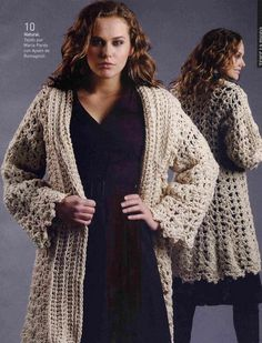 08 Site has diagrams for Crocheted coat. ||  ♡ LOVELOVELOVE!!!  ♥A