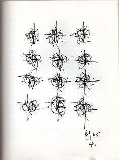 Brion Gysin, Fourth drawing in William Burrough's Time. Abstract Drawings, My Drawings, Abstract Art, Scribble Art, Found Art, Elements Of Art, Letter Art, Mark Making, Calligraphy Art
