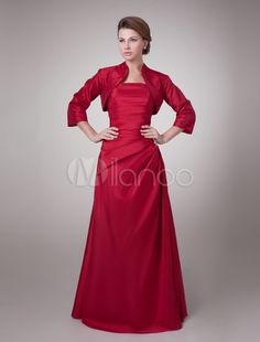 Mother of the Bride Dress with Jacket Floor Length - Milanoo.com