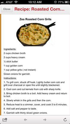 Zea's corn grits