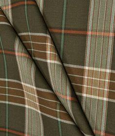 "Ralph Lauren Brown Sage ""LANTERN HOUSE"" Wool Blend Tartan Plaid Fabric - LCF24380F - Below Wholesale - 3.7 yds. $295.00, via Etsy."