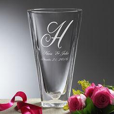 Lasting Impressions Etched Crystal Vase