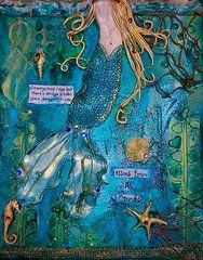 Mixed Media Mermaid - Lessons From A Mermaid