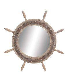 Another great find on #zulily! Ship Wheel Mirror #zulilyfinds