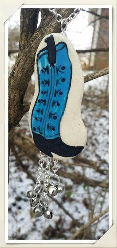 OOAK Blue Cowboy Boot Por... - Stonekoyote Design W...   Scott's Marketplace