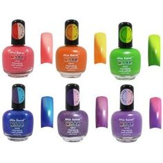Mia Secret Mood Nail Lacquer Color Changing Nail Polish Set 6 Different Colors Full Size Nail Polish *** You can get more details by clicking on the image. (This is an affiliate link and I receive a commission for the sales) Mood Nail Polish, Color Change Nail Polish, Nail Polish Sets, Mood Colors, Nail Colors, Color Changing Nails, Green Lipstick, Thing 1, Fabulous Nails