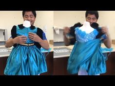 Dad Makes The Most Amazing Transforming Dresses - YouTube