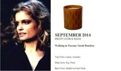 Sarah Biasini for Quintessence Paris  2014 Calendar Collection  Walking in Tuscany (FRUITY CITRUS FIGUE) 140g Candle  http://french-studio-imports.myshopify.com/ #FSI