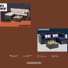 Coffee Table Size, Large Coffee Tables, Beige Cushions, Patio Cushions, Outdoor Sectional, Sectional Sofa, Conversation Sofa, Rattan Sofa, Single Sofa