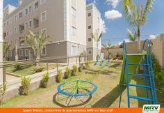 Espaço fitness e playground do Spazio Brescia. Condomínio fechado da MRV Engenharia em Bauru/SP.