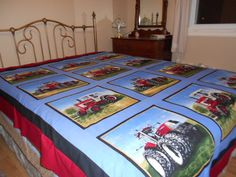 Tractor quilt completed Feb. 2013 as a wedding gift.