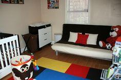 Cool nursery with futon