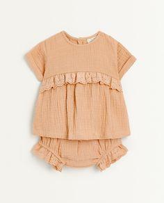 Zara Home, Double Gauze Fabric, Newborn Outfits, Girls Wear, Babys, My Girl, Kids Fashion, Chiffon, Ruffle Blouse