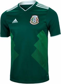 37b59c7c5 adidas Mens 2018 Mexico Home Replica Jersey Collegiate Green White XXLarge     To see