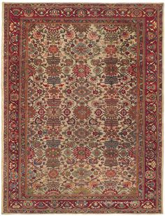 SULTANABAD - West Central Persian 10ft 2in x 13ft 2in Late 19th Century