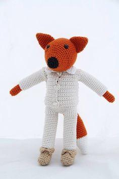Crochet Fox - amigurumi Crochet Penguin, Crochet Fox, Recycled Jewelry, Paper Beads, Amigurumi Toys, Kids Gifts, Teddy Bear, Handmade Gifts, Cotton