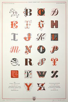 Letter pressed poster by Jessica Hische.