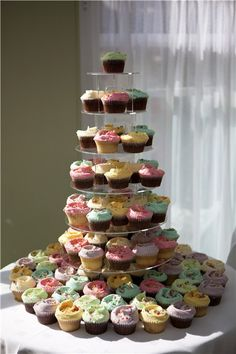 Pastel colour cupcakes!! Perfecto!