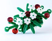 LEGO® boutonniere for prom ~ Prom flowers for guys ~ Prom boutonniere ~ Rose boutonniere ~ White Boutonniere flowers ~ Flower boutonniere Get 30% off your first order. Details at http://BrickAndButton.com