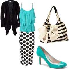 """Polka Dots and Stripes!"" by enhoover on Polyvore"