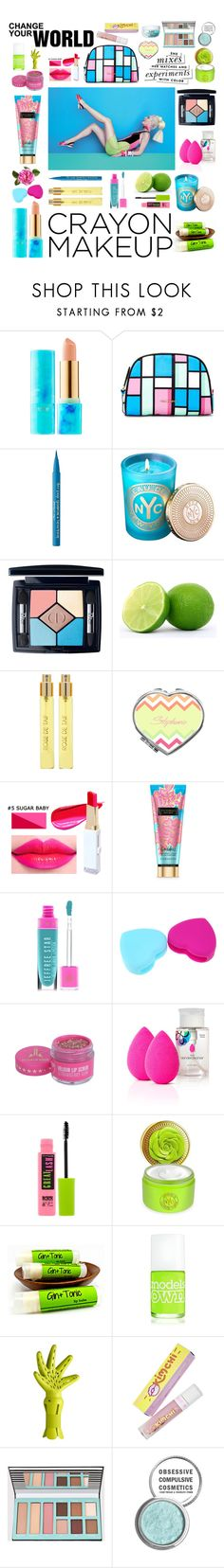"""Crayon-Inspired Makeup"" by shangalairina ❤ liked on Polyvore featuring beauty, tarte, Vera Bradley, Too Faced Cosmetics, Bond No. 9, Christian Dior, WALL, Kate Spade, Perris Monte Carlo and Jeffree Star"