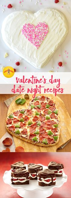 Hearts for Valentine's Day Recipes Looking for some recipes for your date night or dinner for two? From French toast to brownies to pizza, we discovered the best way to someone's heart this Valentine's Day is food made with all kinds of love. Valentines Day Date, Valentines Day Treats, Valentine Cookies, Holiday Treats, Holiday Recipes, Valentines Day Pizza, Valentines Recipes, Valentines Hearts, Valentine Food Ideas
