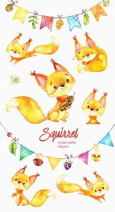 This Squirrels and bunting banners clipart set is just what you needed for the perfect invitations, craft projects, paper products, party Bunting Banner, Banners, Paper Products, Squirrels, Mushroom Kits, Craft Projects, Pikachu, Stuffed Mushrooms, Clip Art