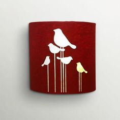 This lovely red wall lamp by #craftter is made from handmade paper!! Check it out on http://fqube.com  #decor