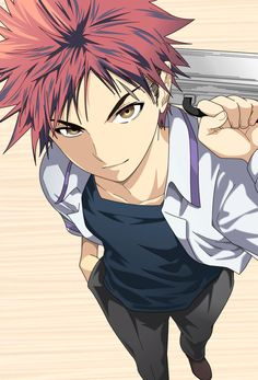 Anime~food wars shokugeki no souma Guy~ yukihira souma Fanarts Anime, Manga Anime, Totoro, Neko, Yukihira Soma, Shokugeki No Soma Anime, Natsume Yuujinchou, Image Manga, Ecchi